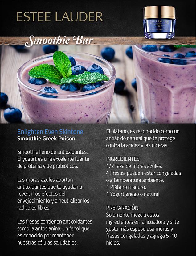 receta de bebida de moras asociada al producto estee lauder