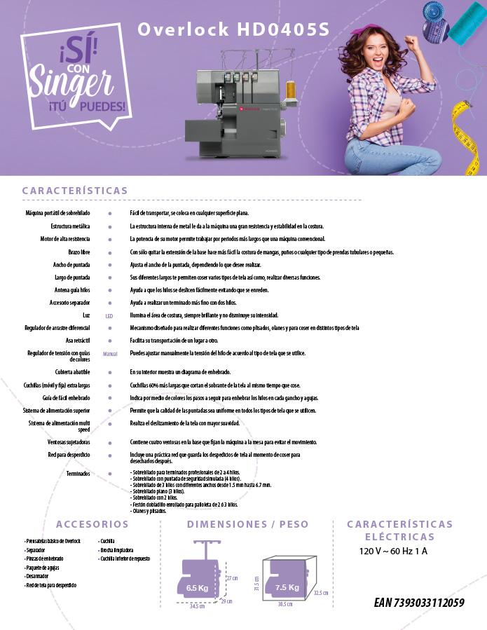 Ficha tecnica singer